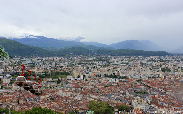 View from the Geologists Terrace, basilica, Grenoble