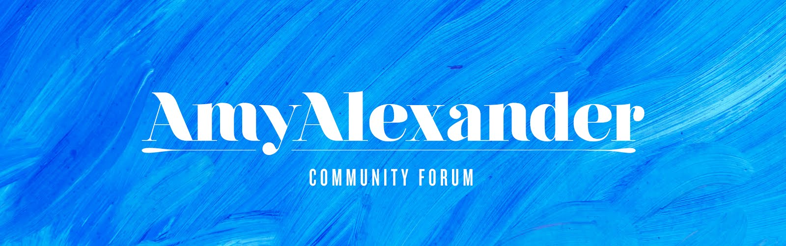 Amy Alexander Community Forum