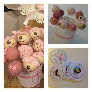 cakepops bautizo cake pops babyshower