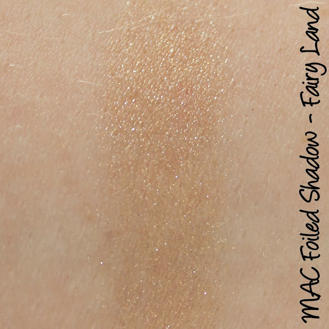 MAC Monday: Faerie Whispers - Fairy Land Foiled Shadow Swatches & Review