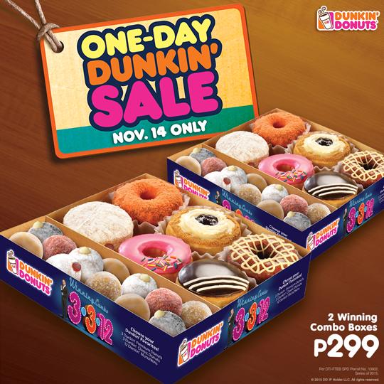 Manila Shopper Dunkin Donuts One Day Dunkin Sale