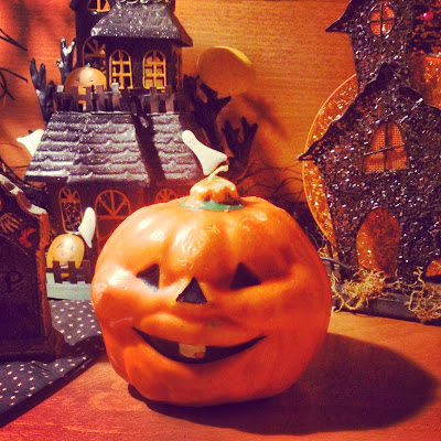 vintage Halloween candle