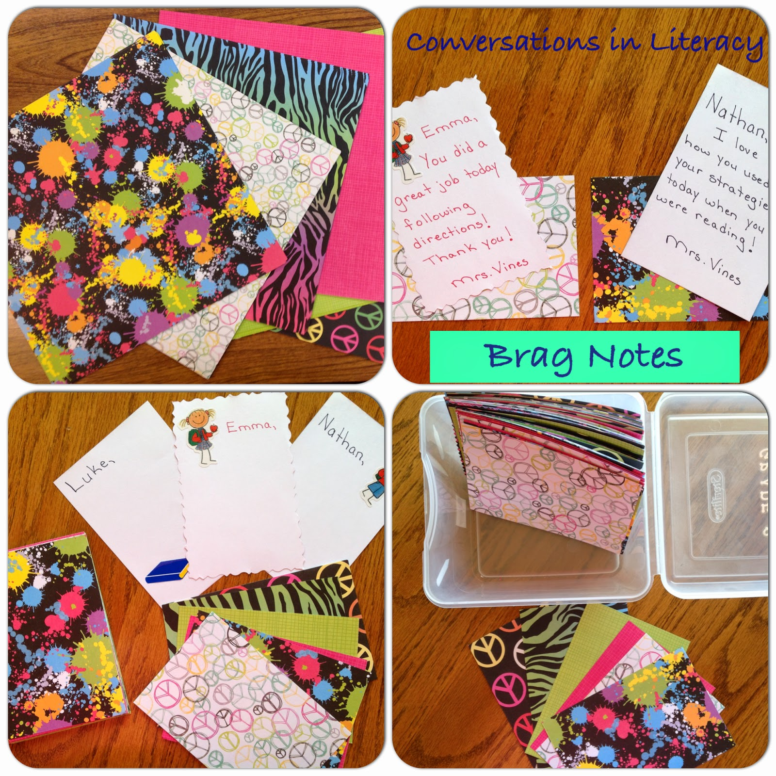 Quick and inexpensive brag notes