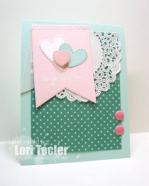 Lots of These card-designed by Lori Tecler/Inking Aloud-stamps from Lil' Inker Designs