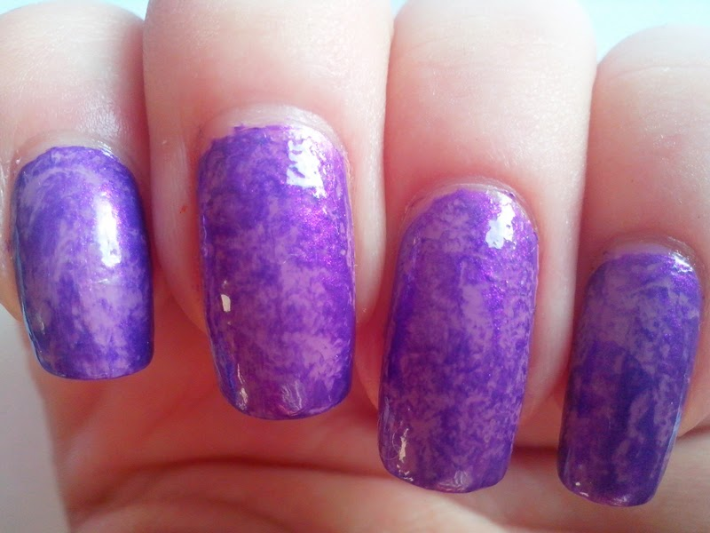 31DC2014 Day 6: VIOLET Nails - Saran Wrap Nails