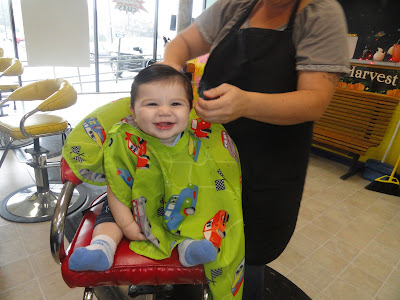 My 6 month old got his first professional haircut!