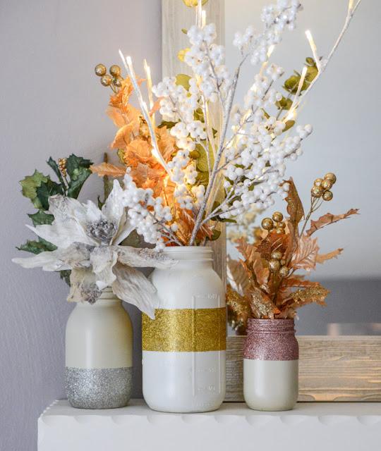 http://www.howsweeteats.com/2013/12/diy-glittery-winter-white-mason-jars/