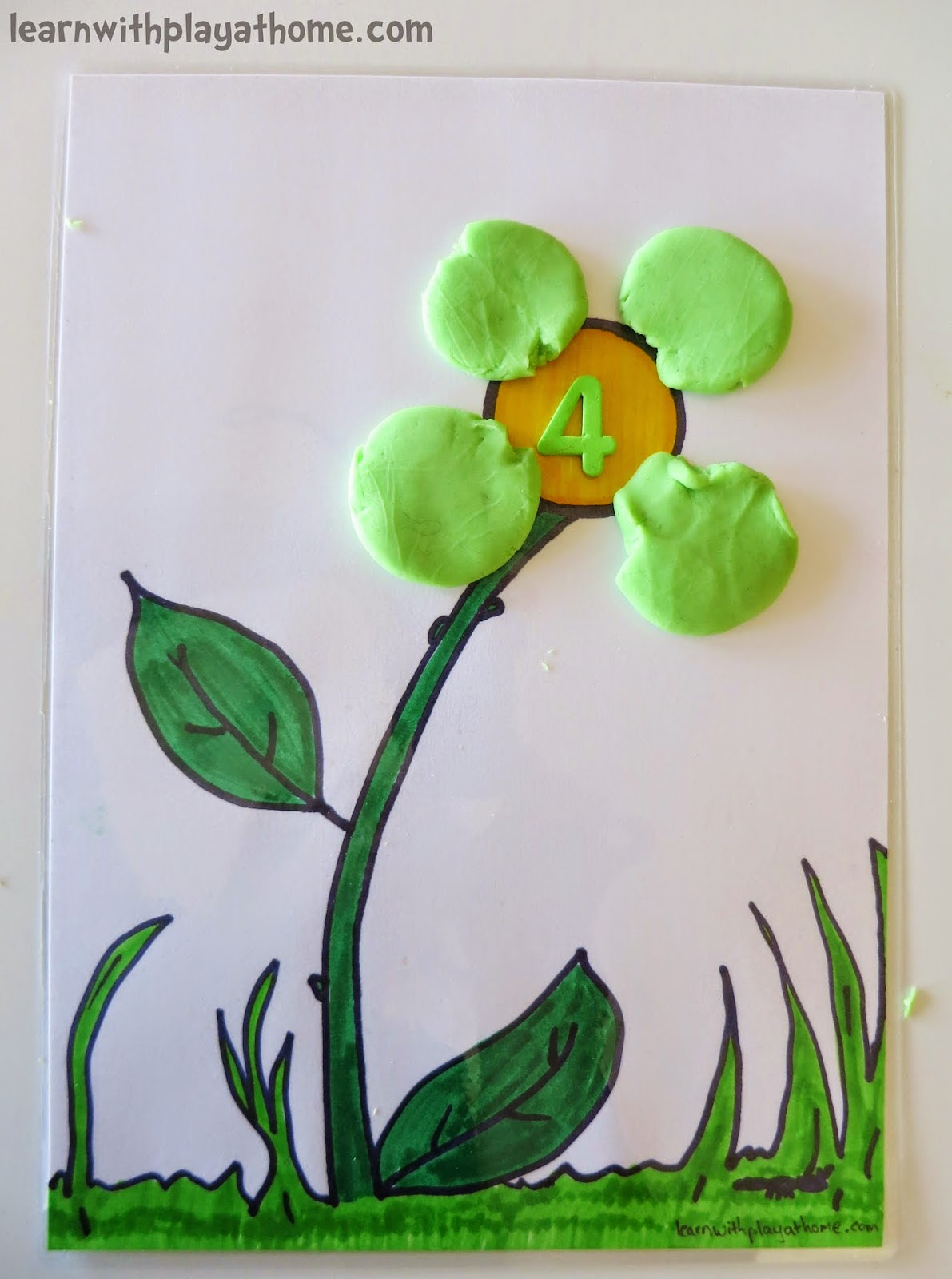 Learn With Play At Home Playdough Flower Mat Free