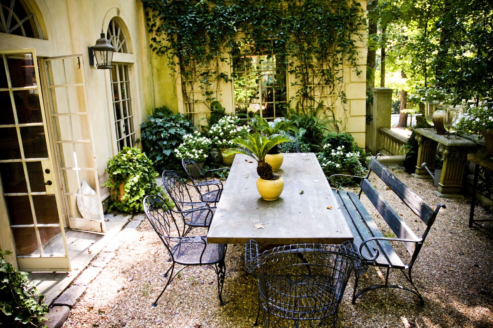 5th and state something about mary part one for French style courtyard ideas