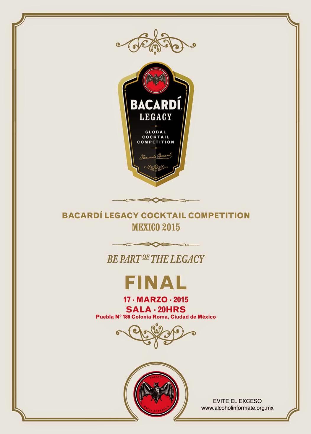 Bacardí Legacy Cocktail Competition 2015 (Ciudad de México, México)