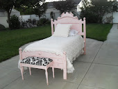 FRENCH GARDEN TREASURE PINK TWIN BED
