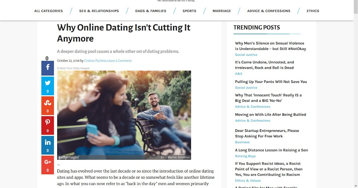 Dating online articles