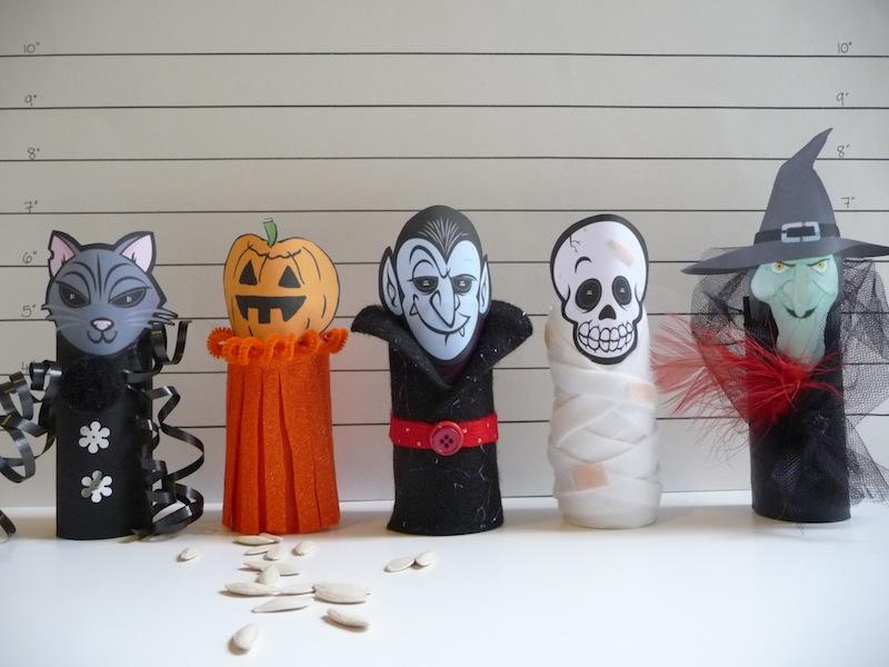 Carta Da Parati Bambini Fanny Dogs: Reciclagem: Decoração De Halloween Com Rolinhos De Papel