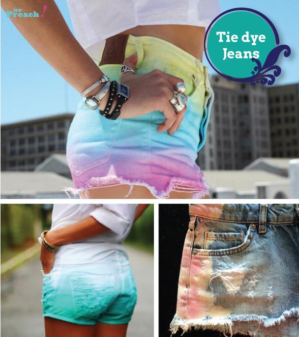 Tie Dye shorts jeans diy - do it yourself - faça você mesmo