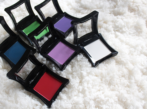 illamasqua collection eyeshadow swatches Creep CanCan Inception Fledgeling Intense Daemon Sex review