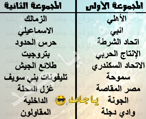 جدول الدوري المصري فبراير 2013 كامل النهائي والاخير مواعيد توقيت موعد مجموعة الاهلي الزمالك