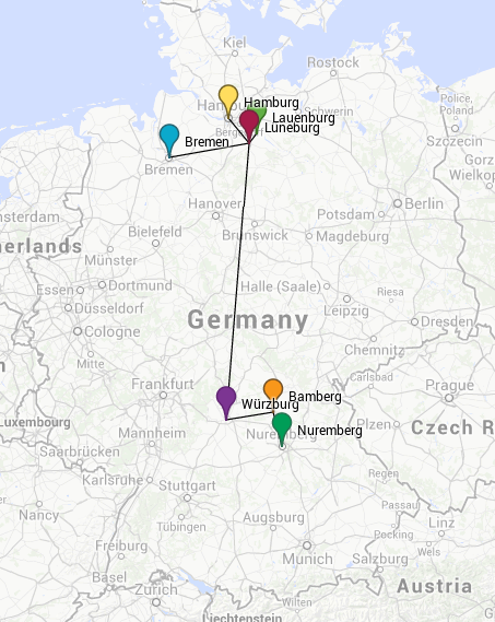 Map of Germany Tour