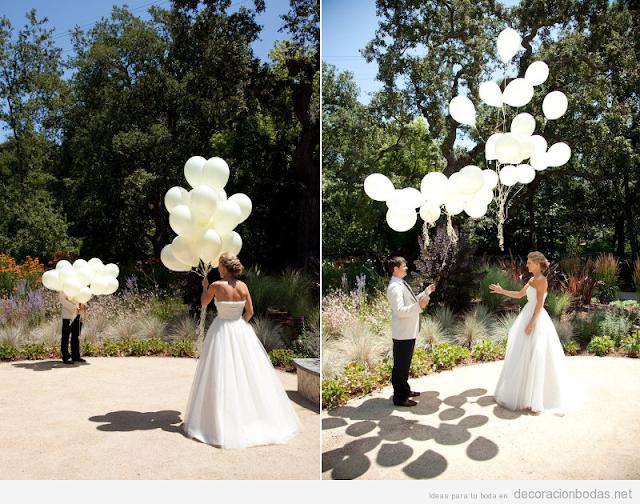 Decoración de boda con globos