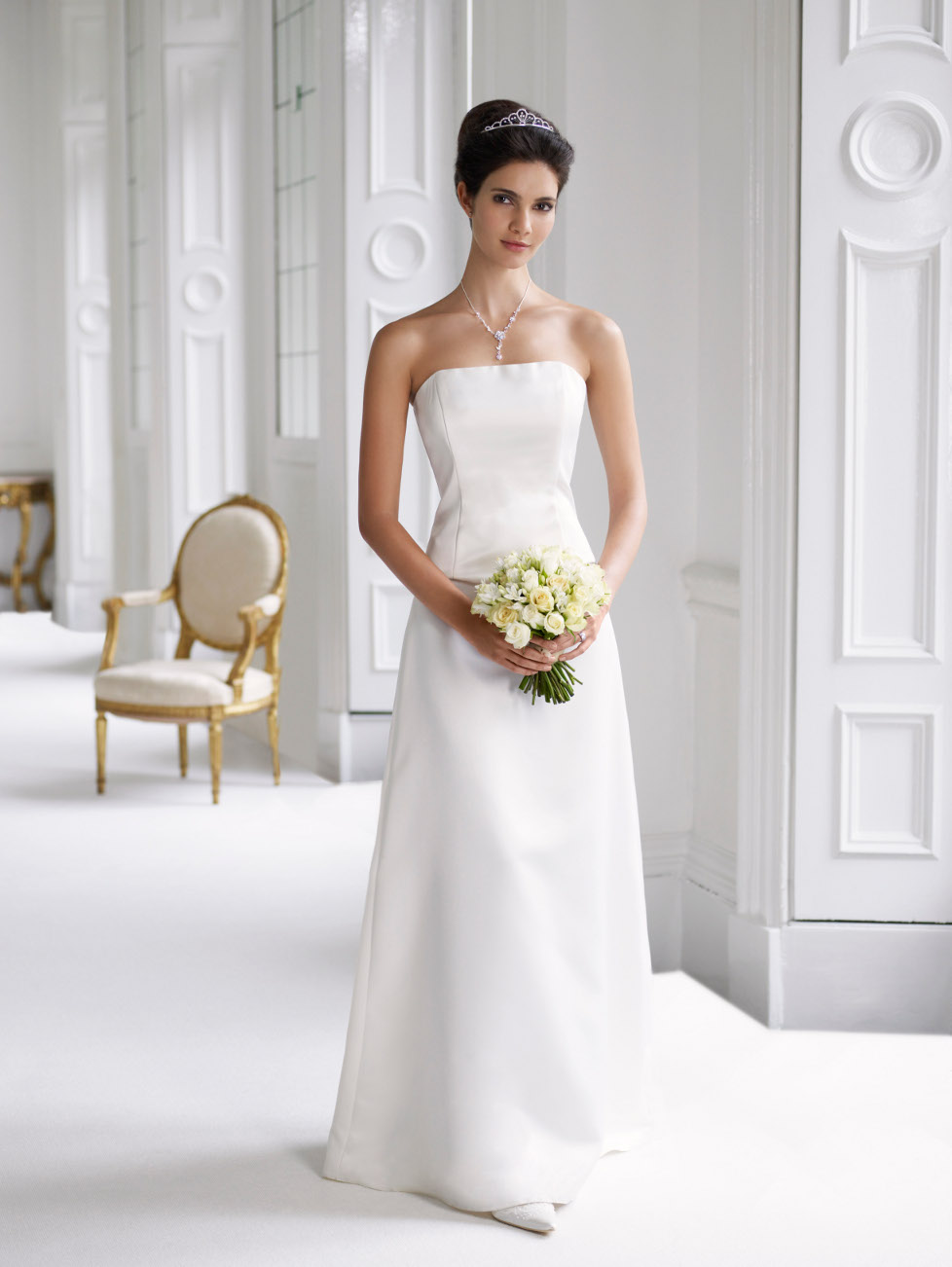 Plain elegant white wedding dress designs wedding dress for Top wedding dress designs