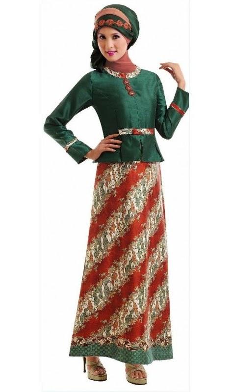 16 Contoh Model Batik Muslim Pesta Modern Terbaik