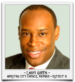 LARRY GREEN IS CURRENTLY SERVING HIS SECOND TERM IN OFFICE