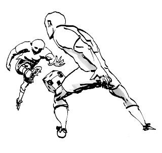 Desenhos Preto e Branco muleque bom de bola  Colorir