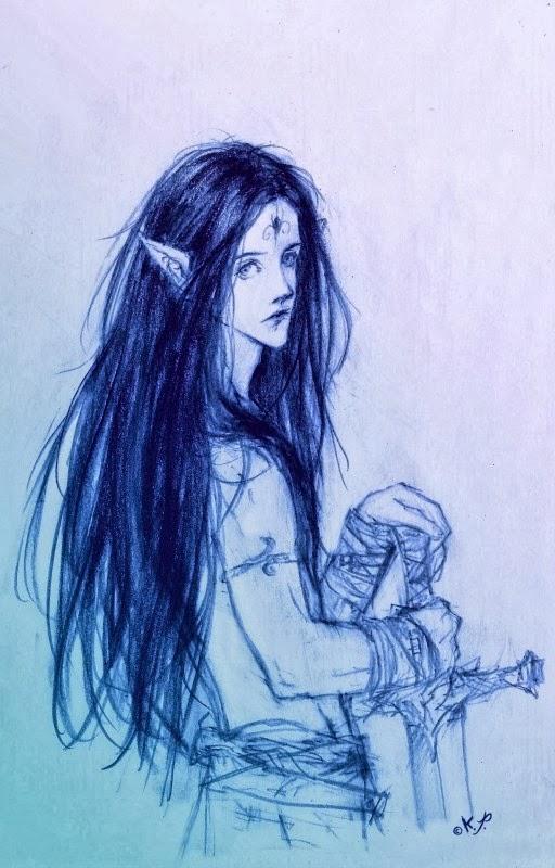 elfo y espada por kaliparvati