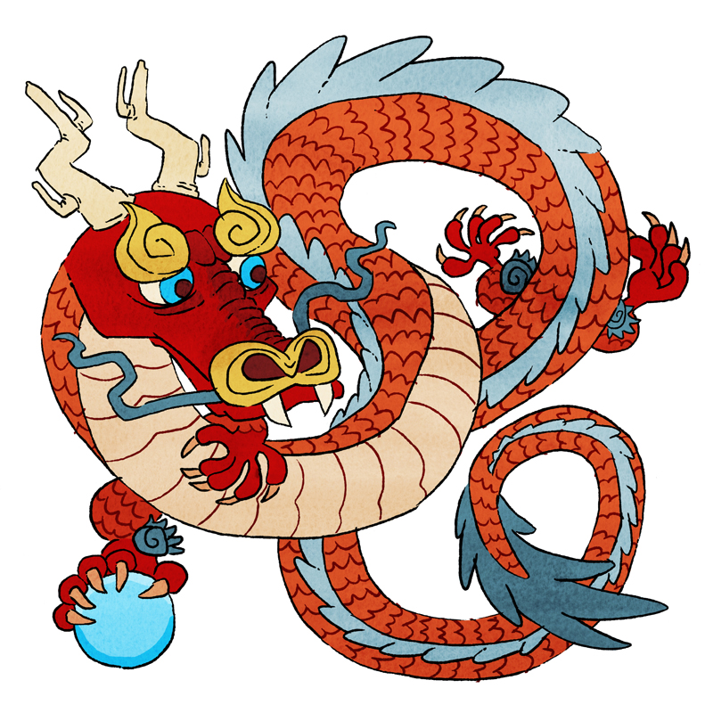 the western and chinese dragon