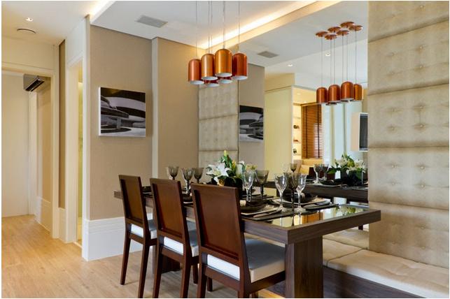 Espelho Na Sala Pequena ~  sala de jantar!  Decor Salteado  Blog de Decoração e Arquitetura