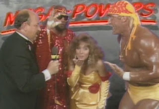 WWE/WWF SUMMERSLAM 1988: The Mega Powers talk to Mean Gene Okerlund
