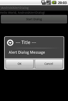 供用戶選項的AlertDialog