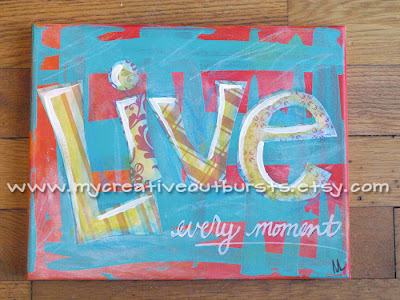 Live Every Moment painting by m.lyman