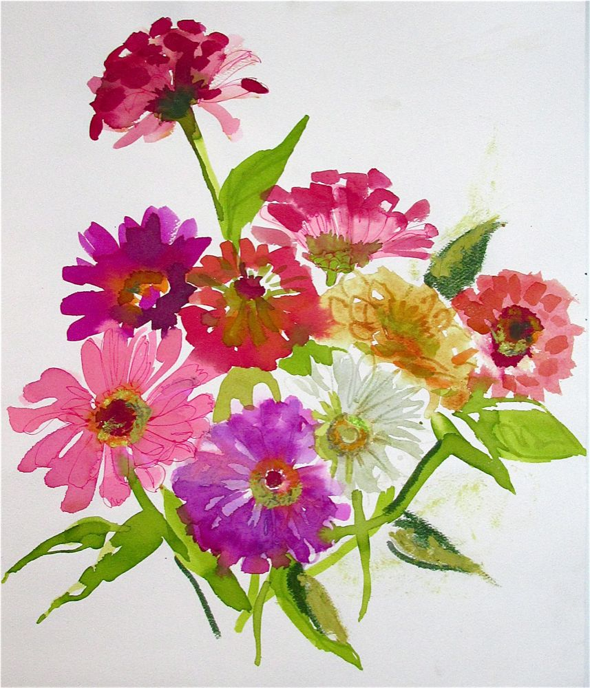 Gretchen Kelly Art…and more: Spring Flowers - YAY! watercolor ...