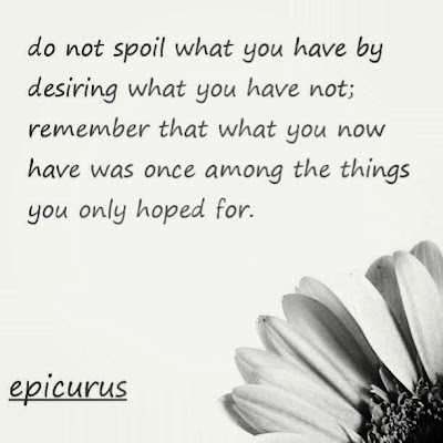 Epicurus gratitude quote Single Mother Ahoy
