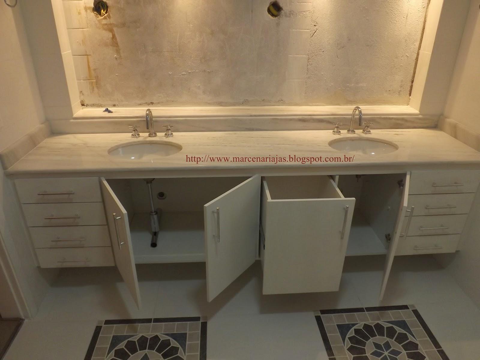 Marcenaria J A S gabinete de banheiro com cesto de roupa -> Armario De Banheiro Planejado Com Cesto De Roupa