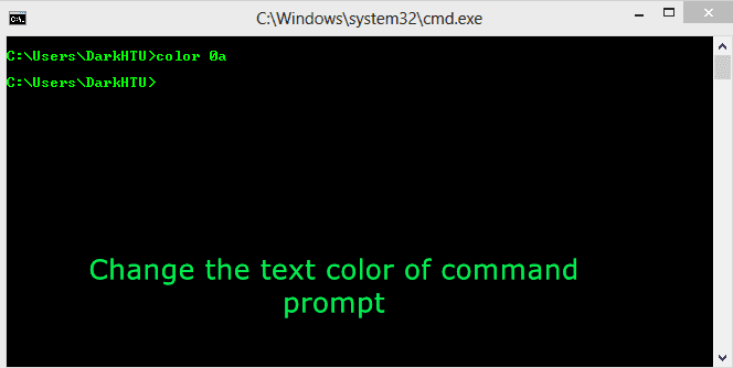 How To Change Background and text color in Command Prompt?