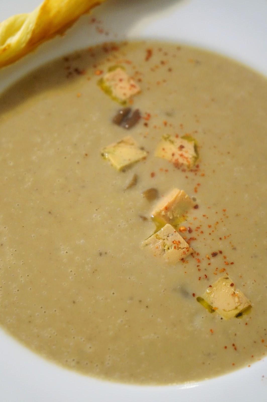 The cook time velout de ch taignes et foie gras maison for Cuisson foie gras bain marie casserole