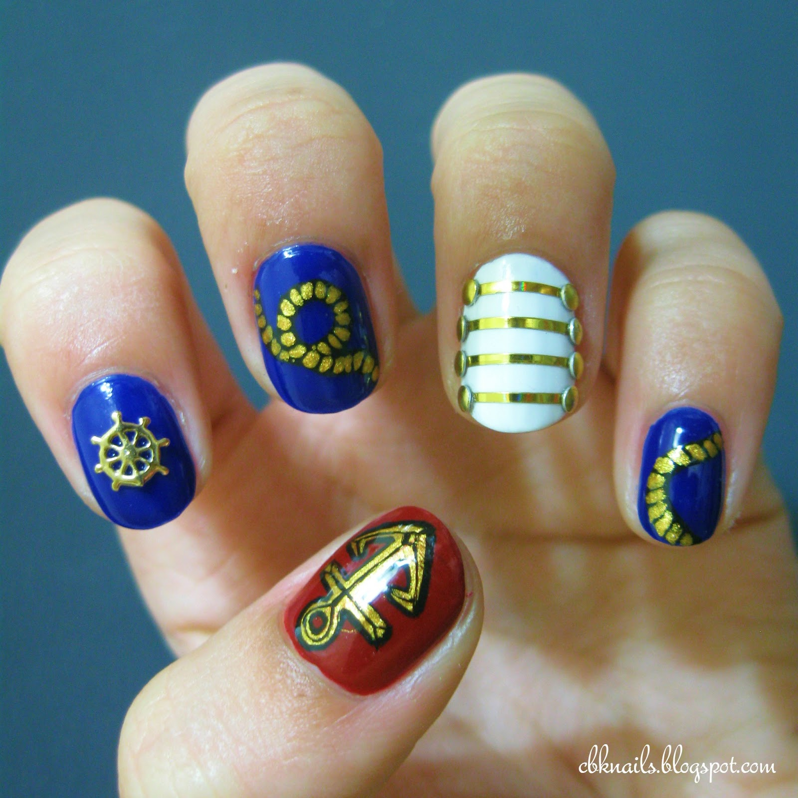 CBK Nails: Nautical nails, and a mini review!