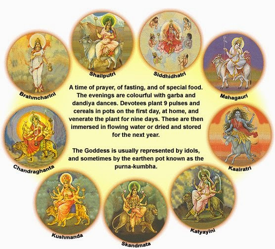 Nine Goddess of Navratri