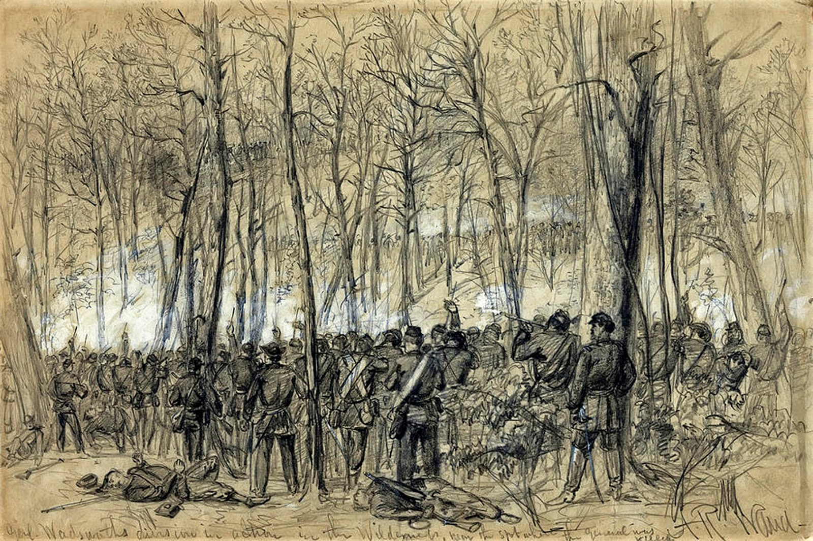 battle of the wilderness Battle of the wilderness : may the 7th 1864  arose at daylight, we had our breakfast about half cooked when the battle commenced the rebels came out of the woods in.