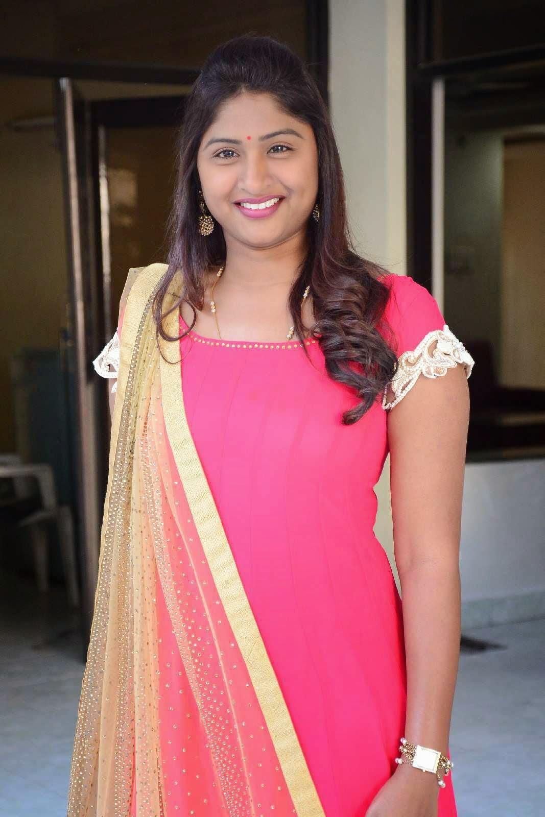 Actress Praveena Latest Cute Hot Beautiful Pink Dress Spicy Photos Gallery At GAMA Tollywood Music Awards 2015 Press Meet