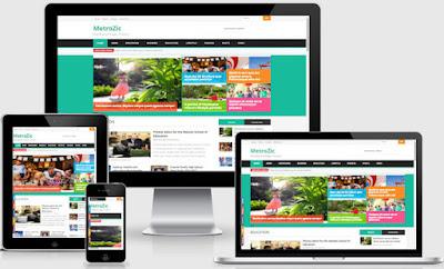 Chia sẻ Template Blogspot tin tức MetroZic Responsive
