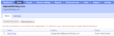 Google Apps Domain Registration - Google Apps Control Panel: Users