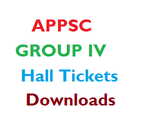 APPSC Group 4 IV Exam Hall Tickets DowNload