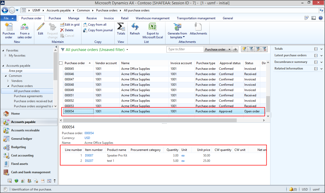 Importing Purchase Orders Using Dixf Microsoft Dynamics