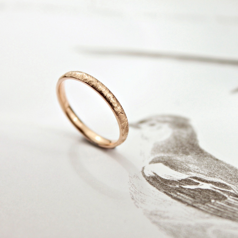 2mm Gold Wedding Band 75 Luxury mm horn texture ring