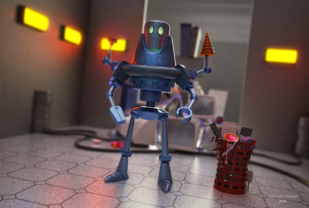 The Cleaning Robot 3D Image