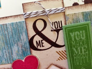 You and Me from Perfect Pennants stamp set