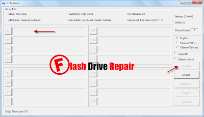 Download FC MpTool V4.02 for fixing alcor chip controller