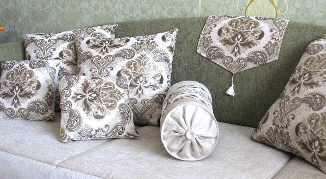 перетяжка мебели, переделка мебели, подушка валик